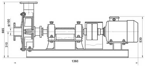 Насос перекачки жидких заквасок (ЦН-4)
